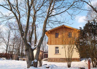 Das Bahnwärterhaus im Winter